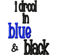 Drool BLUE BLACK