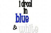 Drool BLUE WHITE