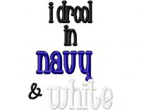 Drool NAVY WHITE
