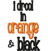 Drool ORANGE BLACK