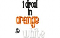 Drool ORANGE WHITE