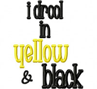Drool YELLOW BLACK