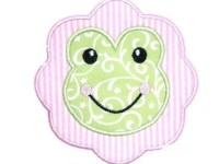 Froggy Face Scalloped Patch