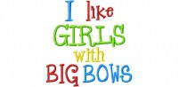 GIRLS with BIG BOWS