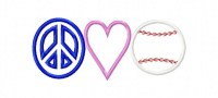 Peace Love Baseball2